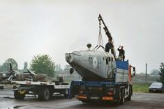 Il velivolo viene trasferito a San Possidonio - Foto Bruno Bentivoglio