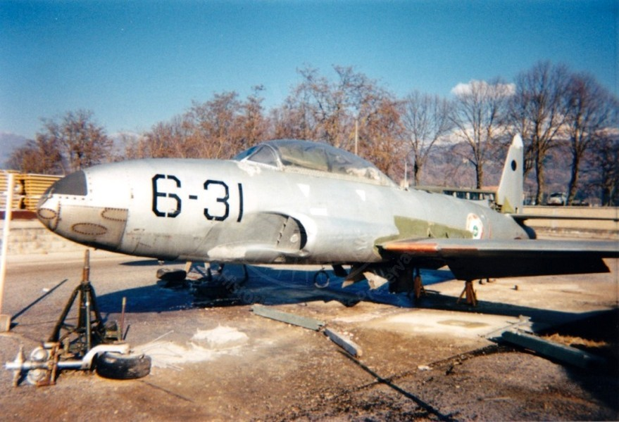 Lockheed T 33A a Rieti presso la Scula Interforze Difesa NBC