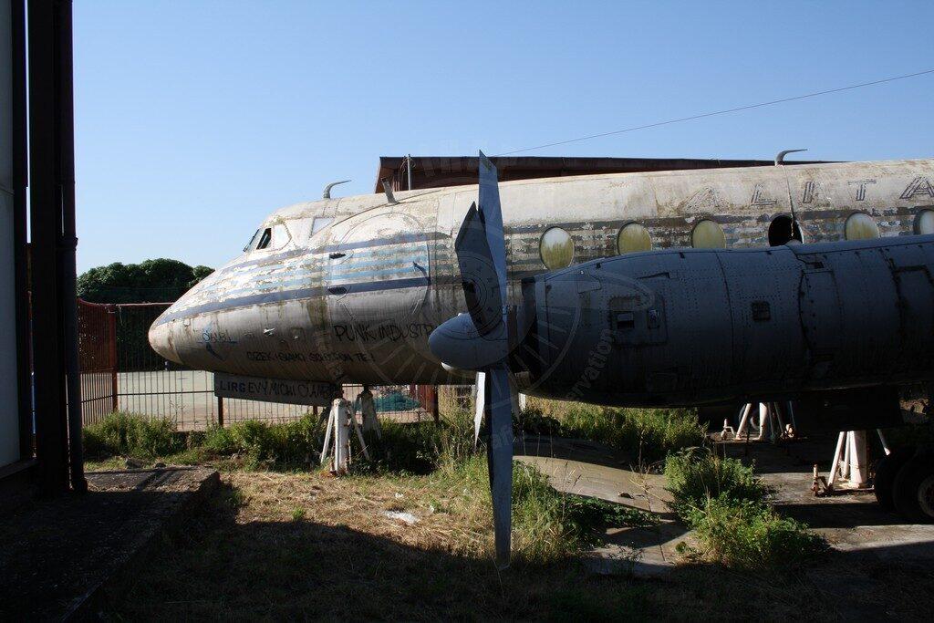 Vickers Viscount I-LIRG all'Istituto Tecnico Aeronautico De PInedo di Roma