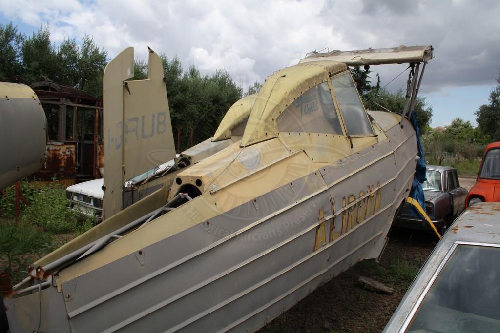 Grumman G-164 AgCat a Roma presso il Ristorante da Zì Pietro