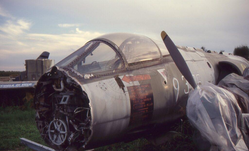 FIAT Lockheed F 104G a San Possidonio come rottame.