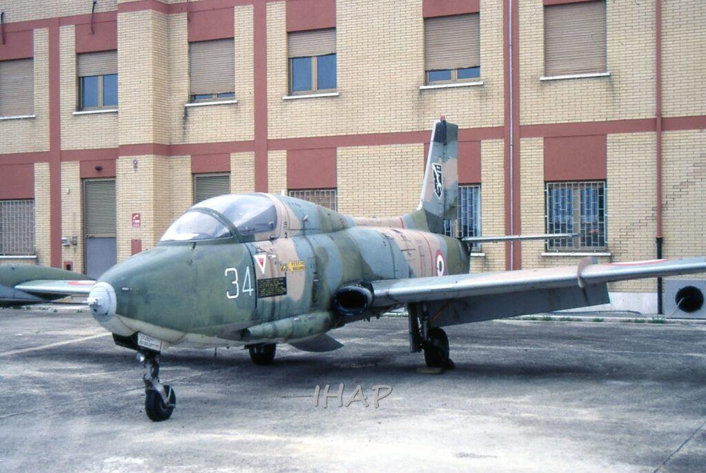 Aermacchi MB 326K MM 54991 oggi a Volandia in attesa di restauro